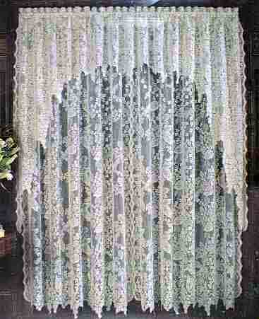Heritage Lace English Ivy Door Curtain Panel - Curtains at Window