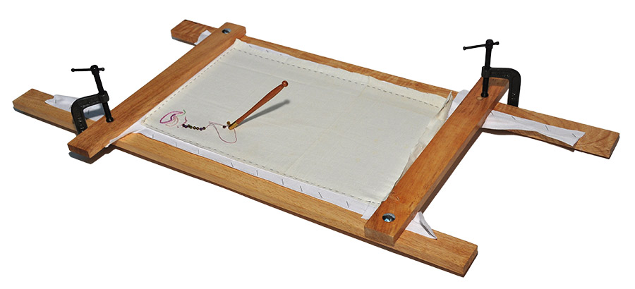 professional tambour embroidery frame consists of 4 bars 2 14 and 2 28 2 2 heavy duty c clamps and twill tape which when stapled to the bars - Embroidery Frames