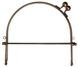 purse frame 10 wo loops silbrnz plate lv82 2200 - Metal Purse Frames